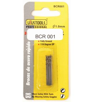 Broca Acero Rapido Blister  1Mm X 10Un