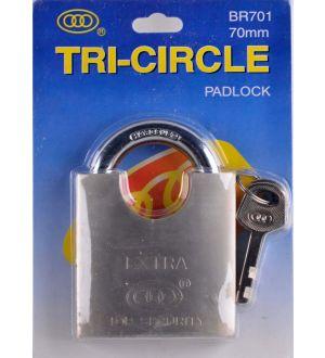 Candado Br701/70Mm Blister Tri-Circle
