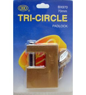 Candado Rectangular Tri-Circle Bx970