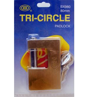 Candado Rectangular Tri-Circle Bx980