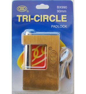 Candado Rectangular Tri-Circle Bx990
