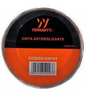 Cinta Antideslizante Amarilla/Negra 50Mmx10M Ferrawyy
