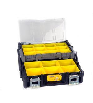 Caja Plástica de Herramientas con bandejas y Organizadores