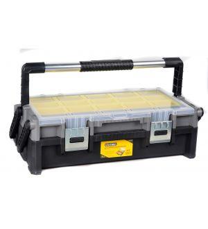 """Caja Plástica de Herramientas con bandejas y Organizadores  565x302x170mm 22.5"""" Capacidad 20Kg"""