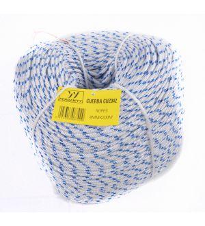 Cuerda Trenzada 16 Hilos Blanco/Azul 4Mmx200M