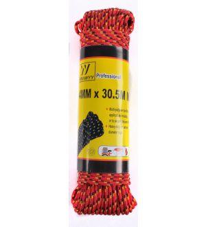 Cuerda Trenzada  4Mmx30.5M X 5 Colores