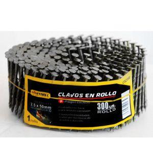 Clavos en rollo 2.5x50mm 300 unidades