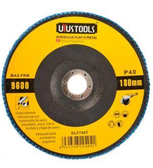 Disco Lija Flap P/Metal 180Mm #40 Uyu.