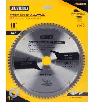 """Disco Corta Aluminio 10"""" 80 Dientes"""
