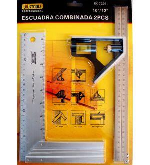 Escuadra Combinada 2Pcs 10/12