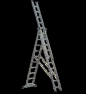 Escalera tipo Tijera con extensión  3x10x6 Mts