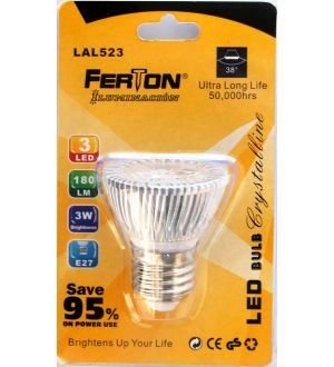Lampara Led E27 3X1W 50X55Mm Ferton