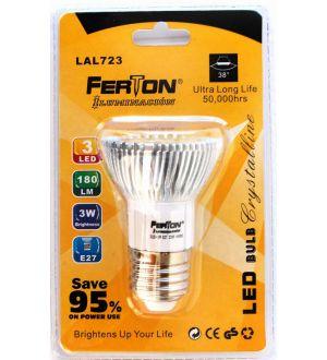 Lampara Led E27 3X1W 50X75Mm Ferton