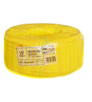 Manguera Goma Flexible Reforzada 3/8 Pulg.  X 50Mts Amarillo