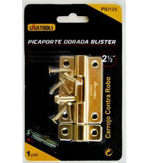 Picaporte Dorada 2.5 Blister