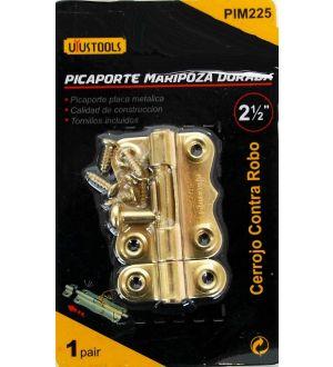 Picaporte Mariposa Dorada 2.5