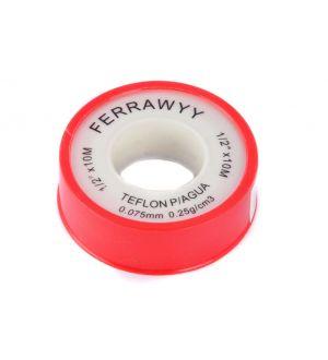 Teflon P/Agua 1/2 Pulg. X10Mx0.25G/Cm3 Fwyy