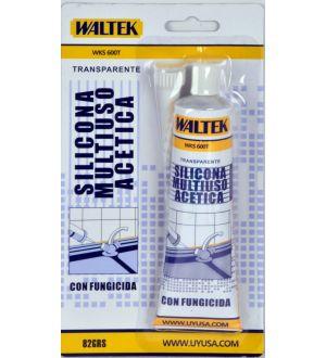 Silicona Multiuso Acetica 82Ml No.600T Translucent Waltek